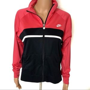 Nike Colorblock Zip Up Sweatshirt
